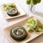 Gâteau roulé salé saumon épinards