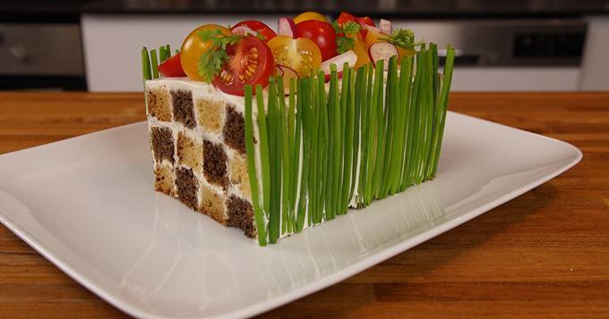 Le cake damier
