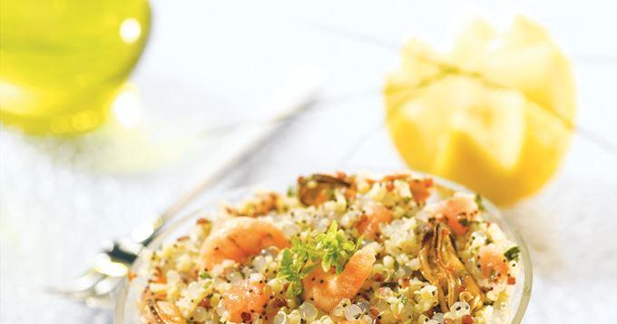 Salade océane au quinoa gourmand et aux perles japon Tipiak