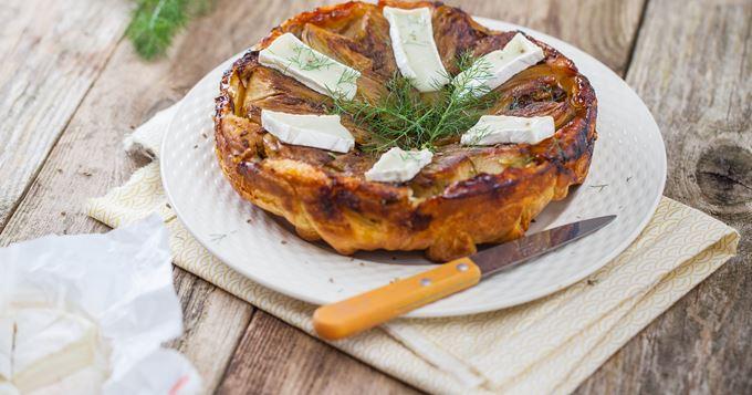 Tatin de fenouil au chèvre du Poitou