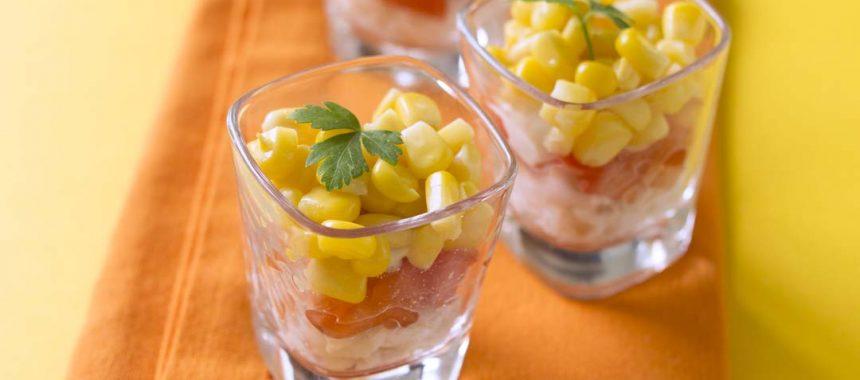 Maïs en verrine
