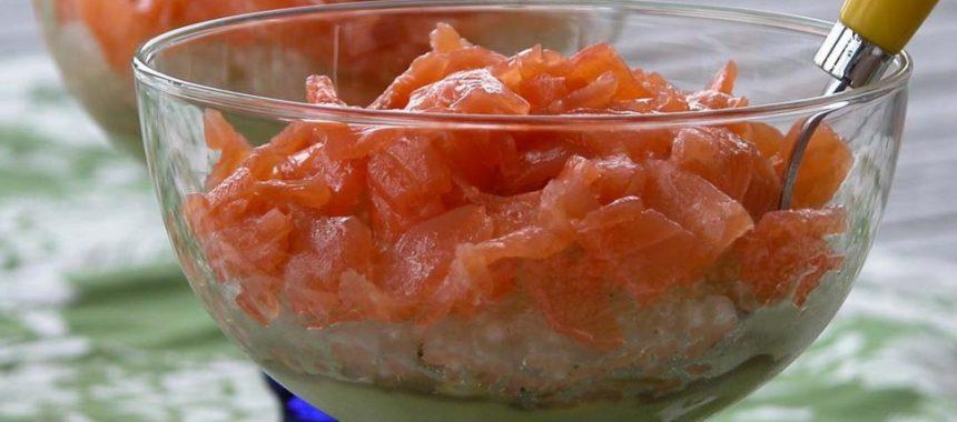 Perles du japon au saumon fumé et guacamole