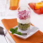 Verrines courgette, chèvre frais, radis