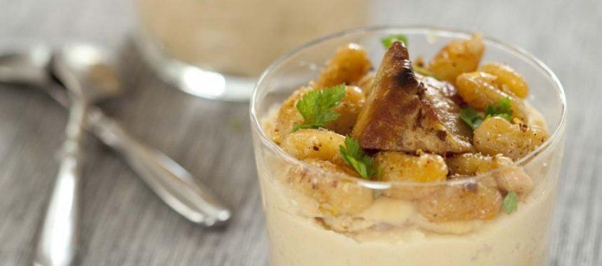 Verrines de foie gras et haricots tarbais