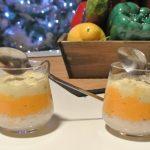 Verrines d'hiver : carottes, chou-fleur et crabe