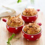 Muffins aux tomates séchées et olives noires