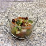 Verrines de courgettes aux tomates séchées