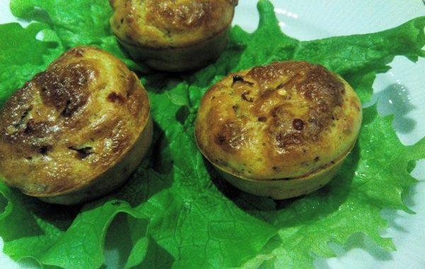 Muffins aux tomates séchées et fromage de chèvre