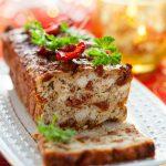 Cake tomates séchées et poulet rôti