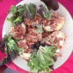 Petites bouchées tomates mozzarella lardons