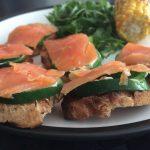 Bouchées de courgettes au saumon fumé