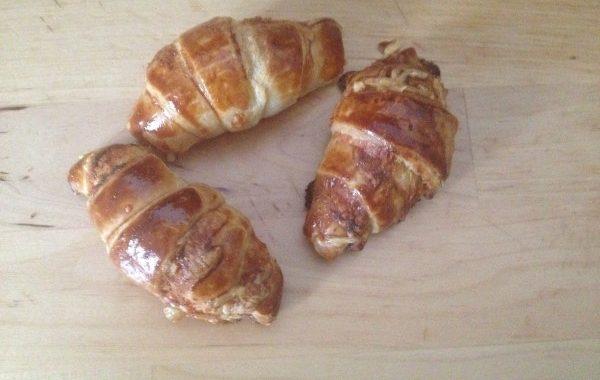 Croissants crème de moutarde et emmental