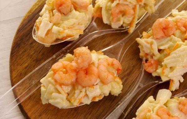 Cuillères apéritives à la crevette (ou verrines)