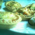 Mini-tartelettes aux crevettes et fromage frais