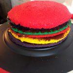 Rainbow cake (gâteau arc en ciel) fourré au chocolat