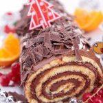 Bûche de Noël chocolat orange