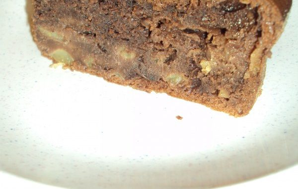 Gâteau aux pommes, mascarpone et cacao