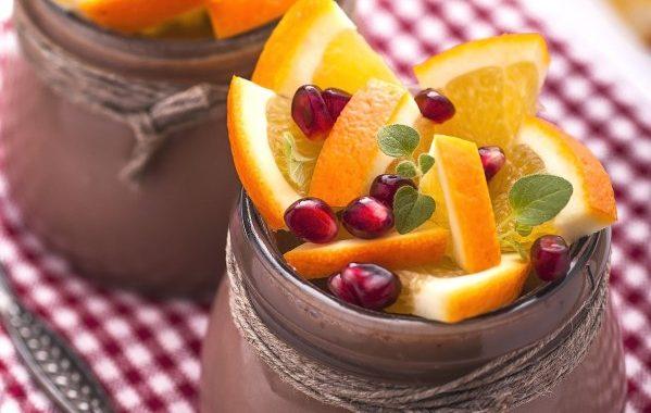 Salade de fruit coucher de soleil (orange grenade)