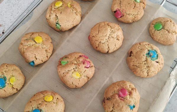Cookies m&m's et pépites de chocolat