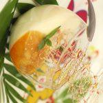 Panna cotta à l'ananas caramélisé