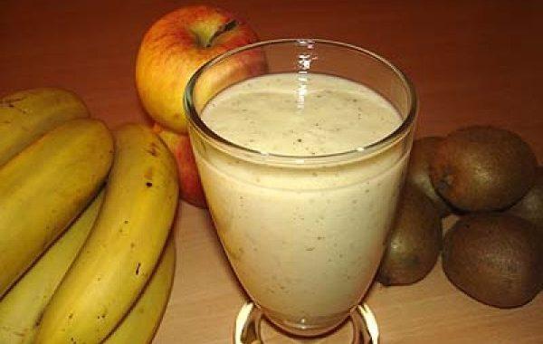 Milk-shake pomme, banane et kiwi