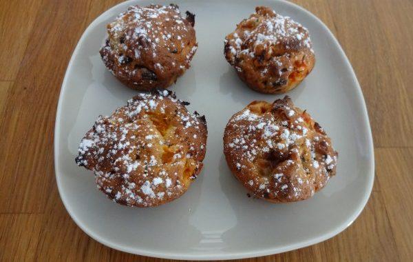 Muffins Banane, Abricot et Chocolat