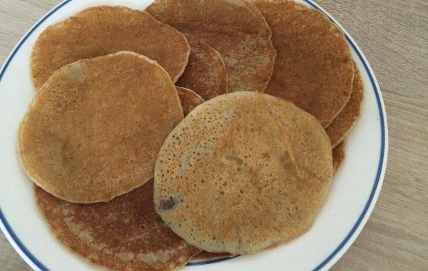 Pancakes banane façon vegane