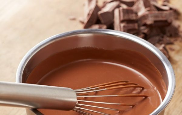 Crème anglaise au chocolat aérienne