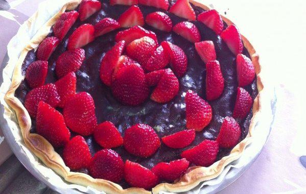 Tarte fraise – chocolat simple