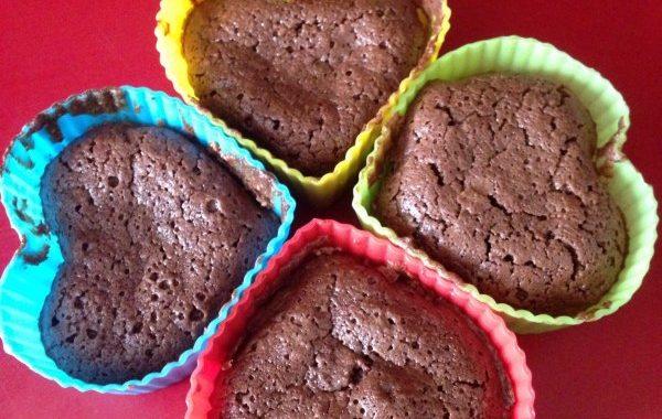 Petits gateaux tièdes chocolat-amande
