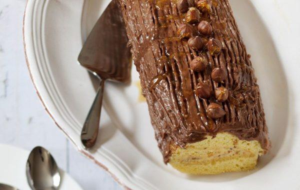 Buche de Noël Praliné-Chocolat de mon Arrière-Grand-Mère