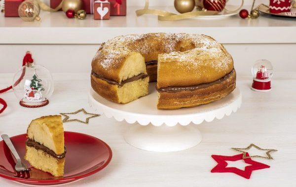 Gâteau rond de Noël au Nutella®