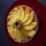 Cheesecake exotique : nappage aux fruits de la passion et mousse de mangue