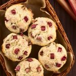 Muffins à la rhubarbe moelleux