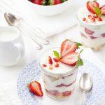 Tiramisu light au fromage blanc et fraises