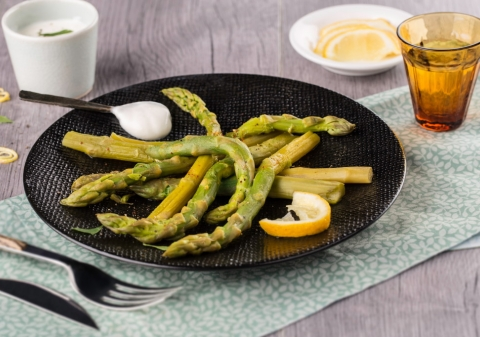 Asperges sauce fromage blanc au Cookeo