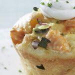 Cup cake au saumon courgette et fromage de chèvre