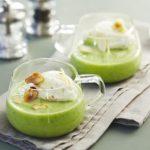 Cappuccino de brocolis aux amandes grillées 2 personnes