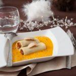 Petits Cannellonis de confit de canard au foie gras, crème de potimarron