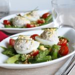 Salade croquante pois gourmands et oeuf mimosa