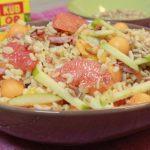 Salade de blé fruitée aux lardons