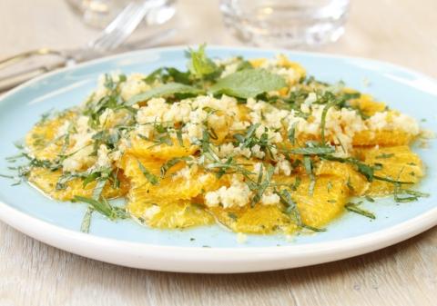 Salade d'orange et boulgour à la marocaine