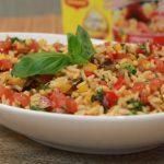 Salade de riz aux poivrons et aubergine