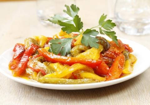 Salade de poivrons à la marocaine