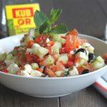 Salade tomate feta menthe
