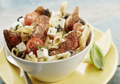 Salade de pâtes méditerranéenne au poulet