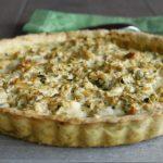 Tarte farcie au poulet, pistaches et gorgonzola
