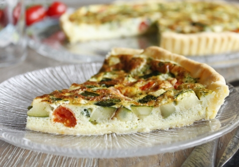 Tarte courgette tomates ail persil