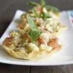 Tartelettes tomates mozzarella pesto