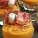 Velouté glacé carottes orange, poivrons